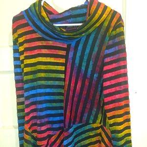 Oversized Colorful Radzou Top! Size Large